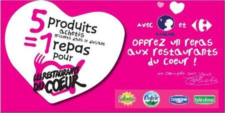 Carrefour et Danone se mobilisent pour les Restos du Coeur, et nous ?