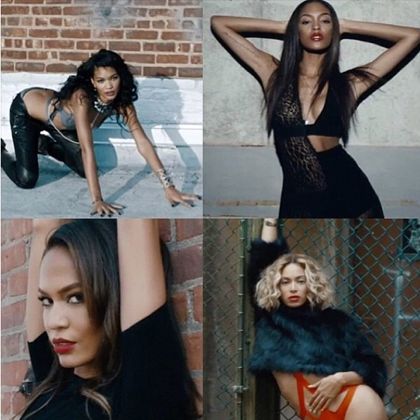 Chanel Iman_Joan Smalls_Jourdan Dunn_Beyonce_Yonce