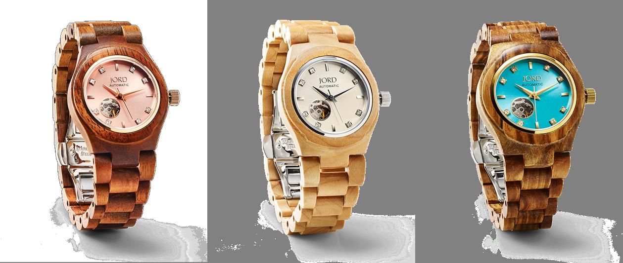Les montres en bois jolies et originales de JORD ~ Montre En Bois Femme