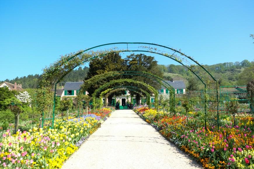 Giverny : le jardin de Claude Monet au printemps